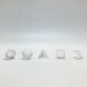 Clear Quartz Geometry Shapes - Mini