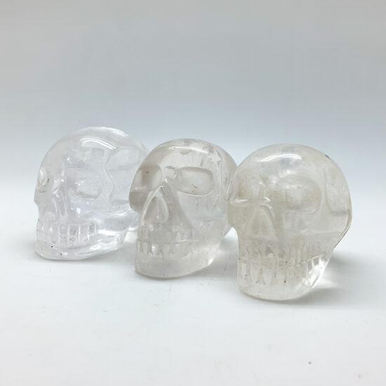 Clear Quartz Skulls