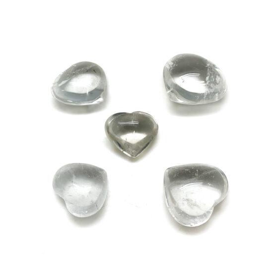 Clear Quartz Hearts