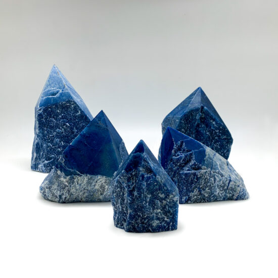 Blue Quartz Semi-polished Points