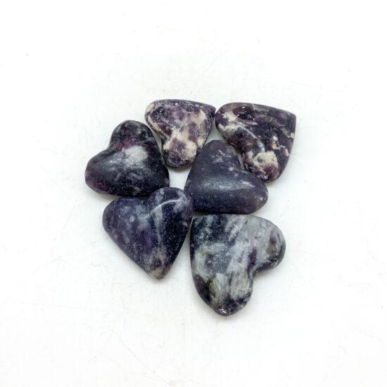 Lepidolite Hearts - Mini