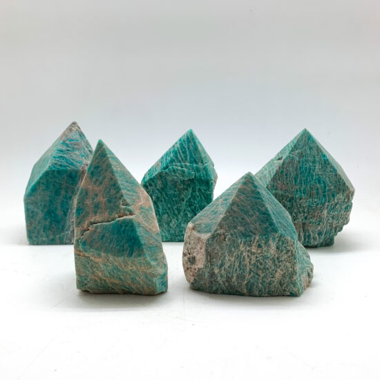 Amazonite Semi-polished Points