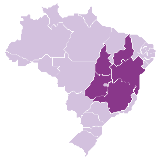 States of Bahia, Goiás, Minas Gerais, Piauí and Tocantins