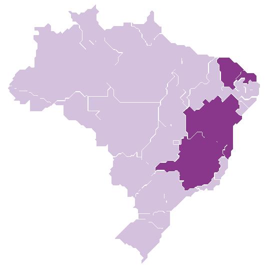 States of Bahia, Ceará, Minas Gerais and Rio Grande do Norte