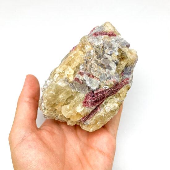 Lepidolite with Pink Tourmaline - Grade B