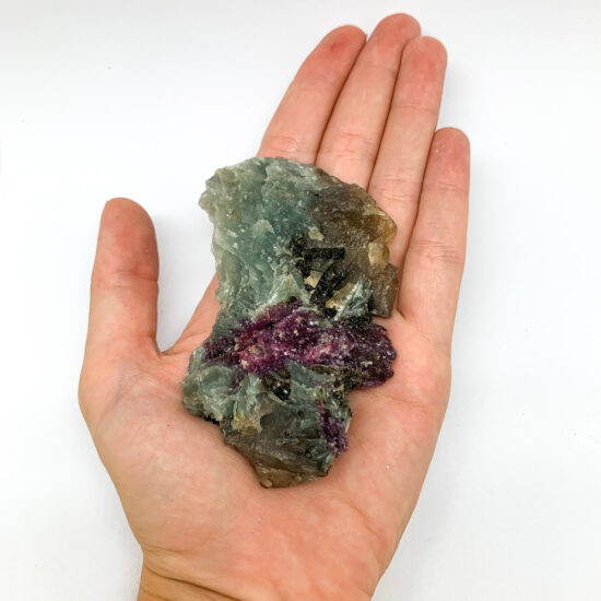 Natural Citrine with Lepidolite and Tourmaline Rough
