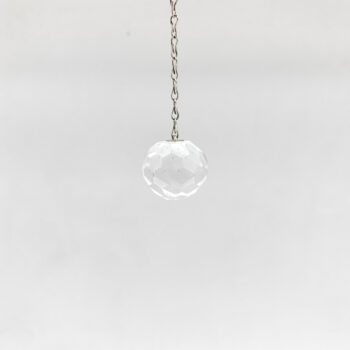 Clear Quartz Faceted Sphere Pendulums