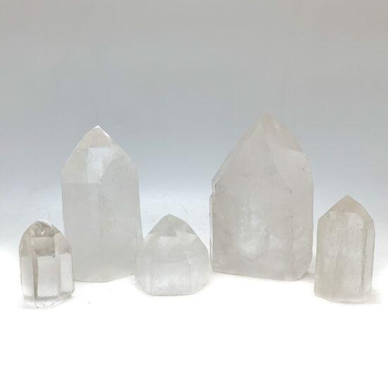 Clear Quartz Semi-polished Points