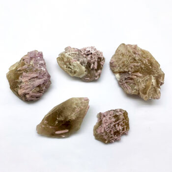 Citrine with Pink Lepidolite Rough