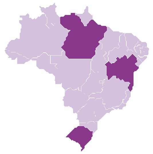 States of Bahia, Pará and Rio Grande do Sul