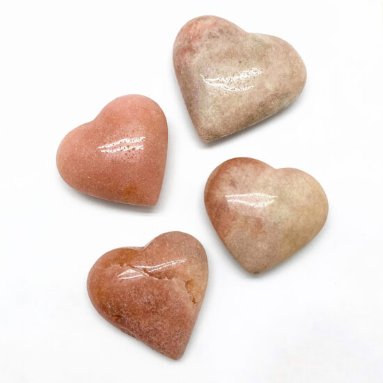 Pink Amethyst Hearts
