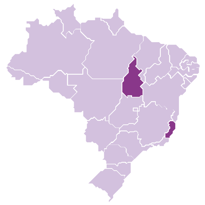 States of Espirito Santo and Tocantins
