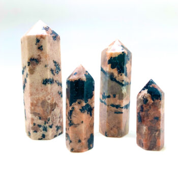 Black Tourmaline With Feldspar Polished Points