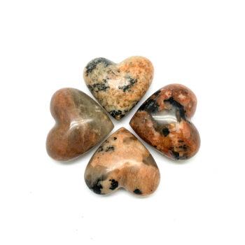 Black Tourmaline with Feldspar Hearts - Mini