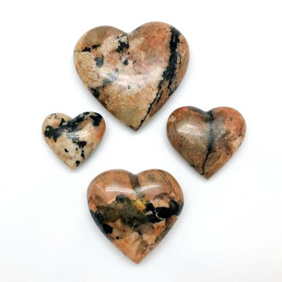 Black Tourmaline with Feldspar Hearts
