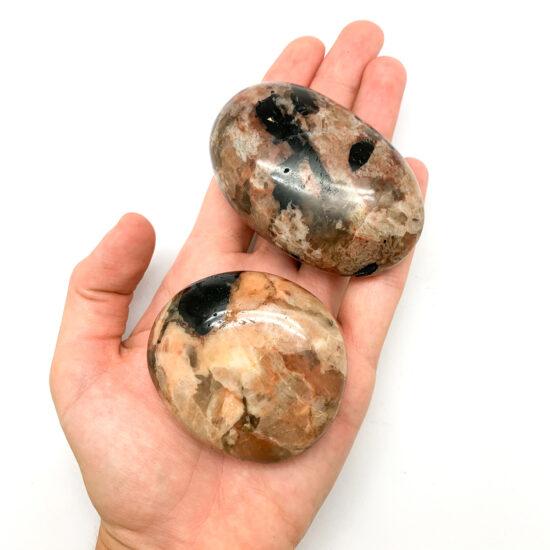 Black Tourmaline with Feldspar Palmstones