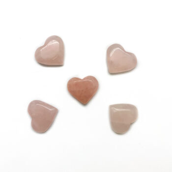Rose Quartz Hearts - Mini