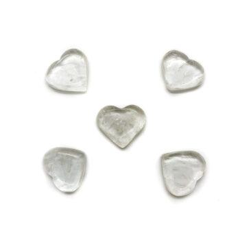 Clear Quartz Hearts - Mini