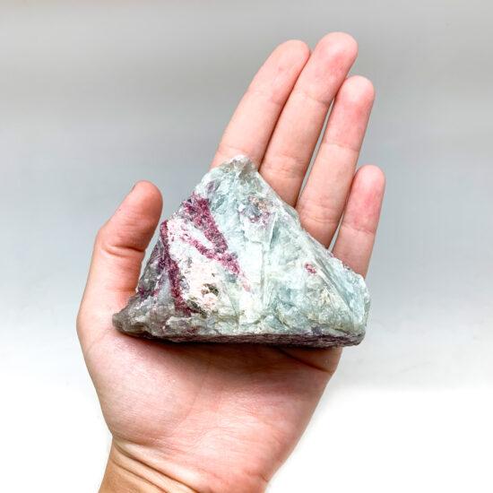 Lepidolite with Blue Albite