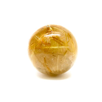 Golden Rutilated Sphere