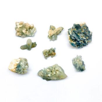 Blue Tourmaline on Quartz Clusters