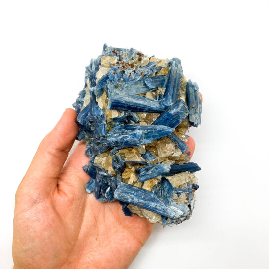 "Blue Kyanite with Hematoid Quartz ""Golden Healer"" Clusters"