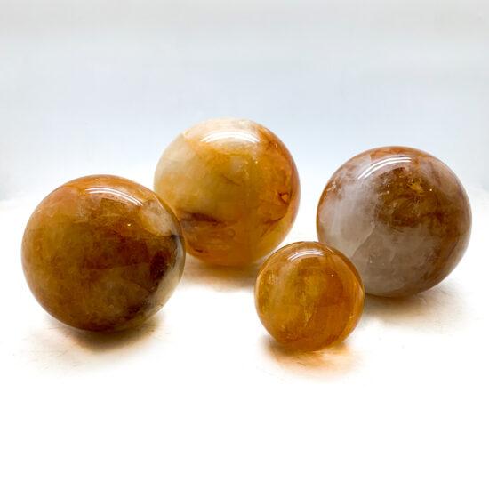 "Hematoid Quartz ""Golden Healer"" Spheres"