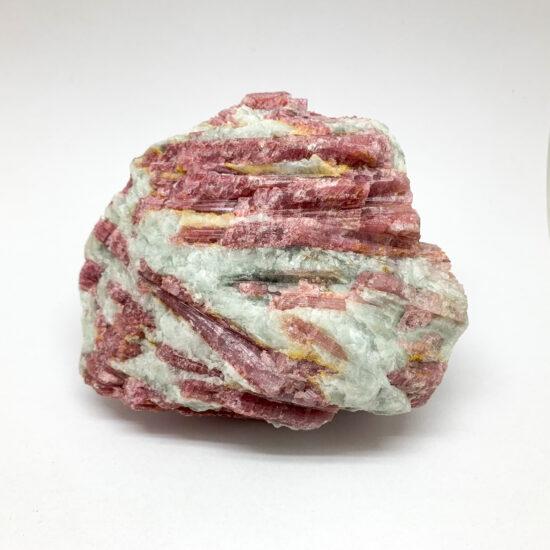 Pink Tourmaline with Aquamarine on Matrix