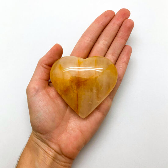 """Hematoid Quartz """"Golden Healer"""" Hearts"""