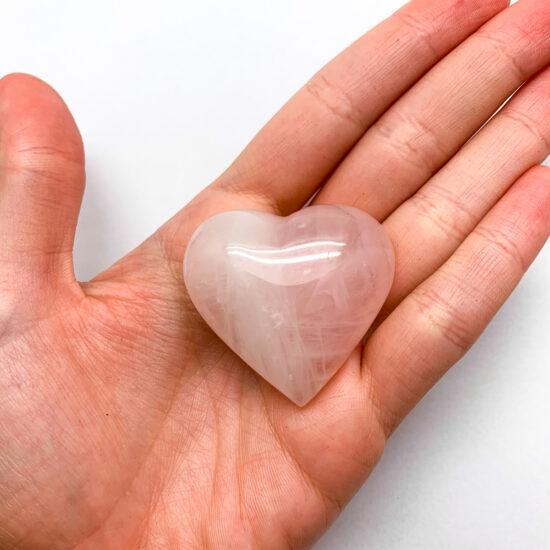 Rose Quartz Hearts - Small