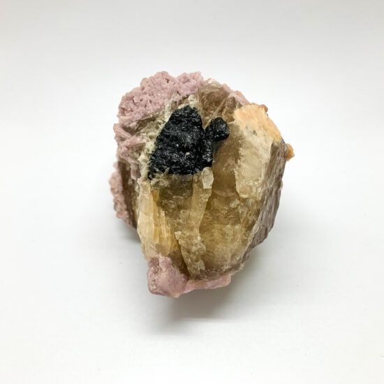 Pink Lepidolite with Citrine and Tourmaline