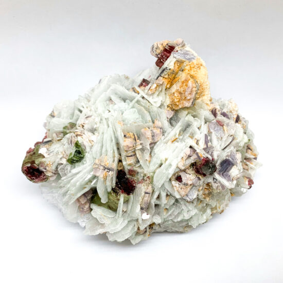 Albite with Tourmaline and Lepidolite - Large #1