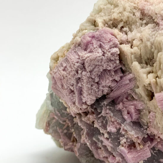 Pink Lepidolite with Green Tourmaline