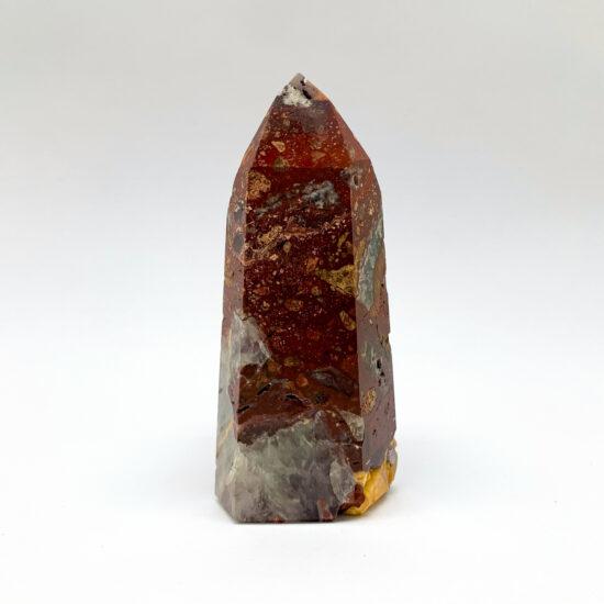 Red Mosaic Quartz Polished Points