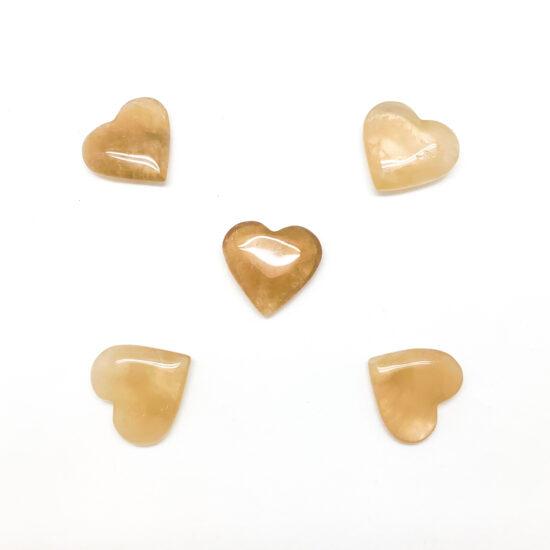 Natural Citrine Hearts - Mini