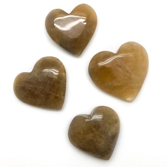 Natural Citrine Hearts