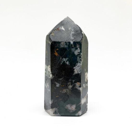Black Tourmaline on Quartz Polished Points