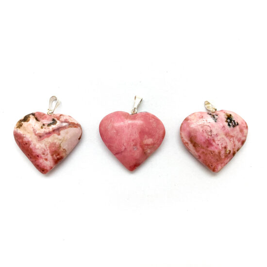 Rhodonite Heart Pendants