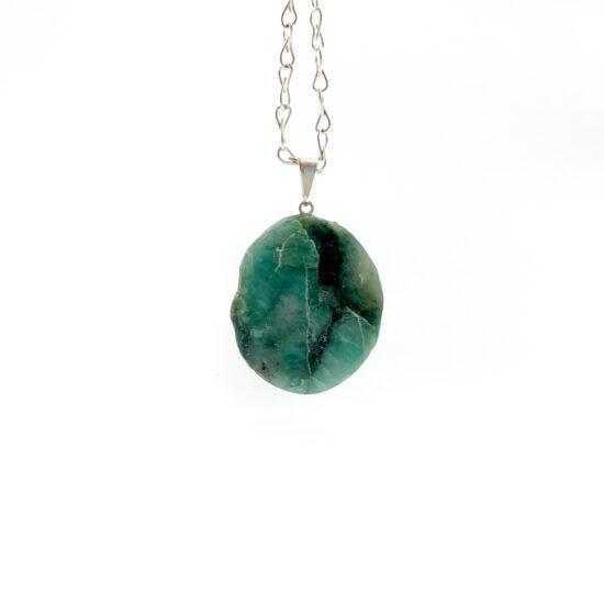 Emerald Slab Pendant