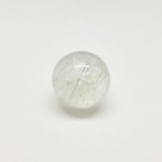 Blue Tourmaline in Clear Quartz Sphere
