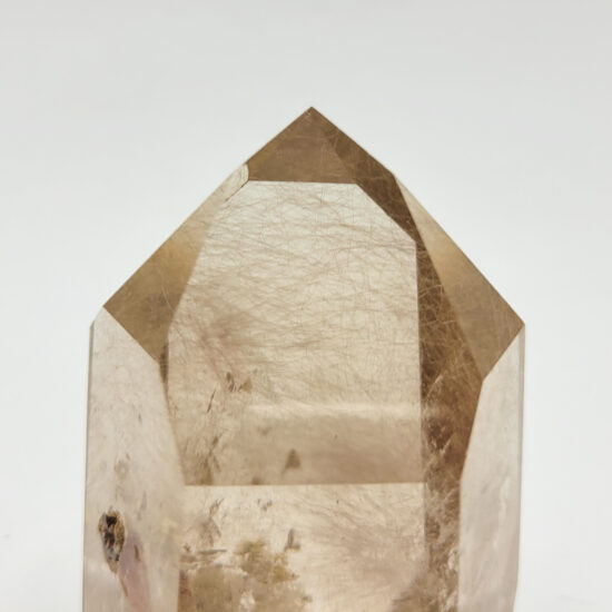 Smoky Quartz with Rutile and Inclusions Polished Points