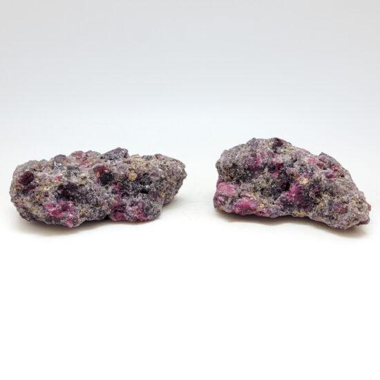 Lepidolite w/ Pink Tourmaline Pair