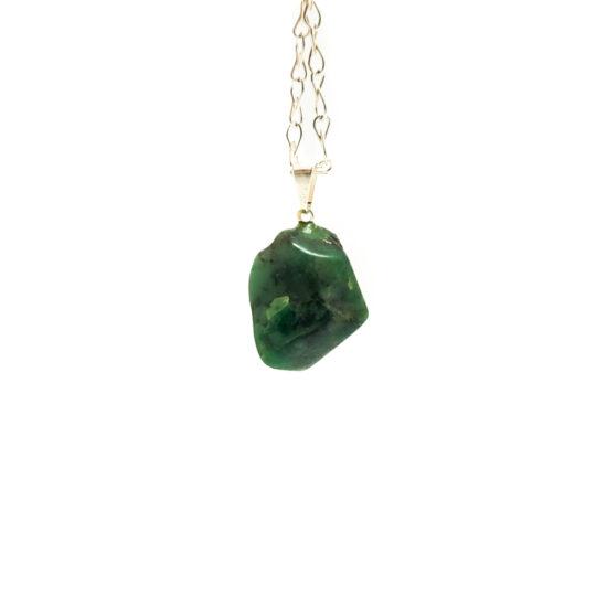 Emerald Tumbled Pendants