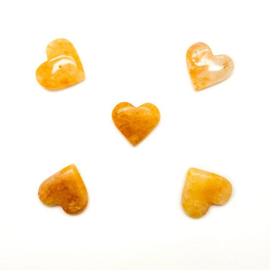 """Hematoid """"Golden Healer"""" Quartz Hearts - Mini"""