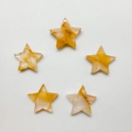 """Hematoid Quartz """"Golden Healer"""" Stars - Mini"""