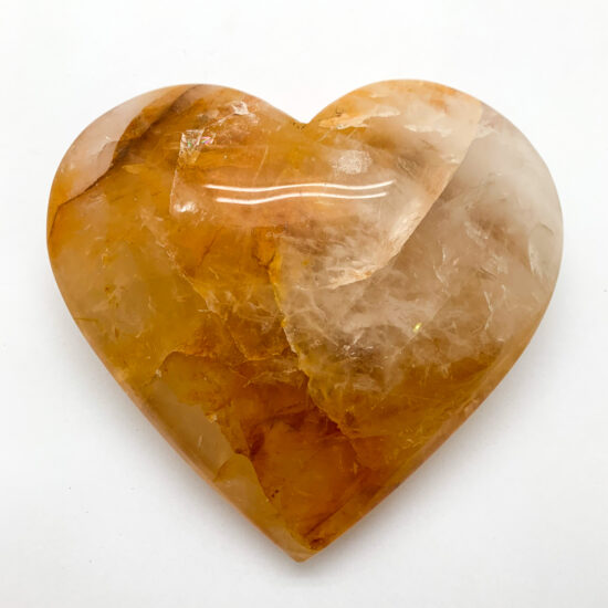 "Hematoid Quartz ""Golden Healer"" Heart - Large"