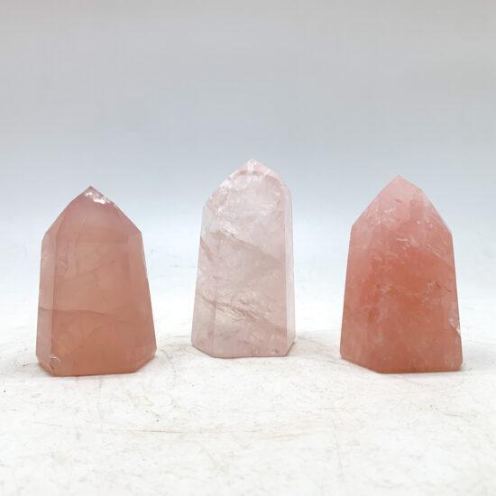 Rose Quartz Polished Points - Extra Grade